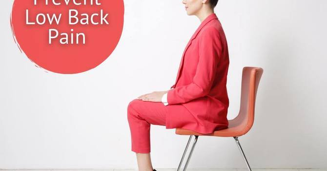 Simple ways to Prevent Low Back Pain image